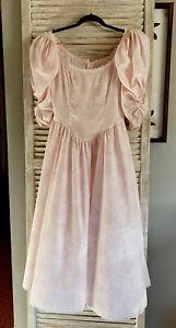 Vintage pink floral maxi dress