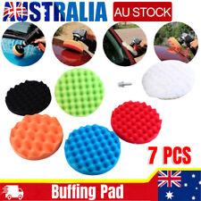 7pcs 3 Inch Buffing Polishing Pads Kit Sponge Buff Waxing Set for Car Polisher
