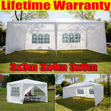 More details for 3x3 3x4 3x6m garden gazebo marquee party tent wedding canopy w/ sides waterproof