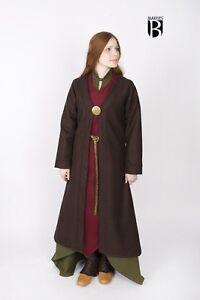 Medieval Birkamantel Aslaug Coat Wool /Larp - Braun From Burgschneider