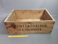 Ancienne caisse en bois lait concentré NESTLE pub vintage années 1960 old box