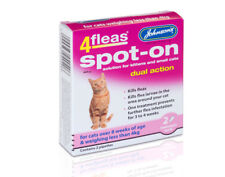 Johnson's 4Flea Spot on solution for kittens & small cats - Dual Action