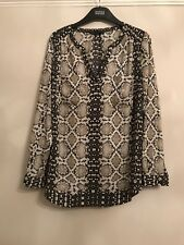 M&S Collection Animal Print Blouse , Size 8