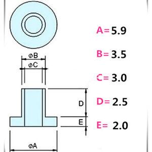 M3 Plastic Gasket Washer Nylon Bushing Ring tw-6 Insulation Bush White