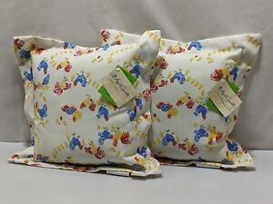 April Cornell Rooster Pillows 2 Set 18x18 Vermont Barnyard Farm CILMAWEAVE 1227
