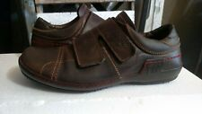 Fly London Brown Leather casual stylish comfort shoes loafers  EU 43 USA 10