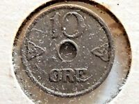 1924 Norway Ten (10) Ore Coin