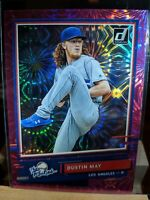 2020 DONRUSS PINK FIREWORKS PARALLELS RC DUSTIN MAY DODGERS THE ROOKIES - H711