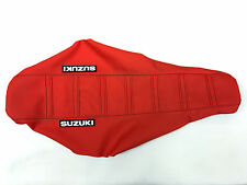 "New ""Suzuki"" RED Ribbed gripper Seat cover RMZ250 2010-2016"