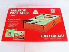 "GAME ""TABLETOP POOL / BILLIARDS"" 15 BALLS, 1 CUE BALL, 2 STICKS, BALL RACK~ NIB"