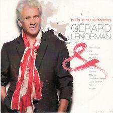 """CD ALBUM CARTONNE 13 T GERARD LENORMAN  """"DUOS DE MES CHANSONS""""""""  (PROMO)"""