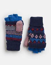 Joules Girls Fallbury Fairisle Gloves - NAVY HORSE Size 8yr-12yr