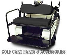Club Car DS Golf Cart Rear Flip Seat Kit (2000.5 -UP)  *BLACK SEAT CUSHIONS*