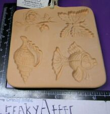 COTTON PRESS FIMO MOLDS BEESWAX BUTTERFLY FISH ROSE AMERICAN ART CLAY CREAKYATTI