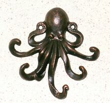 NEW~Heavy Cast Iron Octopus Wall Decor~Amazing Detail~Nautical~Steampunk Verne