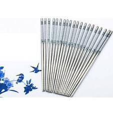 1Pair Reusable Chopsticks Metal Korean Chinese Stainless Steel Chopsticks Supply