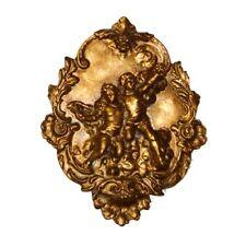Hickory Manor Right Cherub Plaque/Etineene Gold - 6765ET
