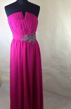 New Little Mistress / Asos Pleated Party Prom Embellished Maxi Dress 10