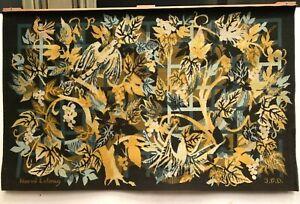 Tapisserie en laine d' HERVE LELONG XX siècle