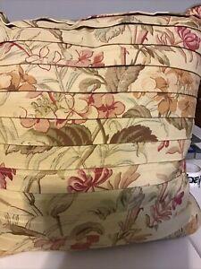 Croscill Cottage Rose Square Fashion Pillow, New