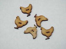 5pc 23mm MDF Hen Shaped Coat Cardigan Trouser Shirt Kid Baby Button 0280