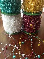 Heart pearl beads wedding garland centerpiece flower/table decoration 1/3m