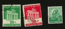 1948-49 Germany Semi-Postal Stamps Scott  #B302, B303 & B304 all Used, H