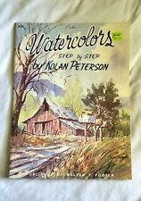 Watercolors Step By Step Kolan Peterson Walter Foster #205 Vintage Art Book Educ