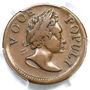 1760 N-3 R-3 PCGS VF 25 Voce Populi Colonial Copper Coin 1/2p