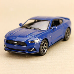 2015 Blue Ford Mustang GT Sports Car Pull-Back Model Detailed 1:38 Die-Cast