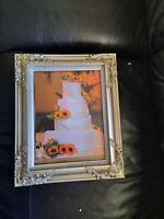 USED Baroque Rococo Retro Style ShabbyChic Photo Frame Vintage Wedding 8 x 10 In