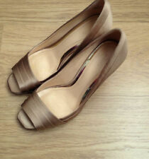 Clarks Patternless Peep Toe Slim Heels for Women