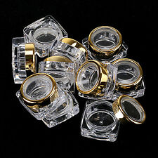 5 X  5G Empty Nail Art Makeup Deco Glitter Gem Powder Bottle Jar