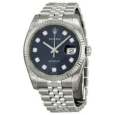 Rolex Datejust Diamond Blue Jubilee Dial Automatic Stainless Steel Watch