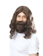 JESUS WIG BEARD AND TACHE FOR XMAS FANCY DRESS