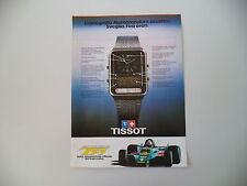 advertising Pubblicità 1979 OROLOGIO TISSOT F1 QUARTZ CRONOGRAFO MEMORANDUM