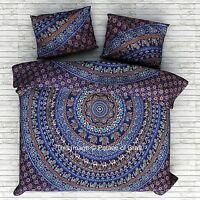 Ombre Mandala Duvet Cover Boho Comforter Doona Cover Indian Ethnic Quilt Blanket