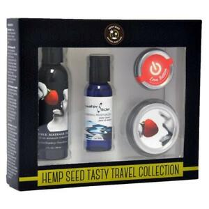 Hemp Seed Tasty Travel Collection - Strawberry Scented Lotion Kit - 4 Piece Set