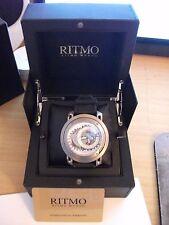 Ritmo Mundo Men's 202 Titanium Persepolis Dual-Time Exhibition Automatic Watch