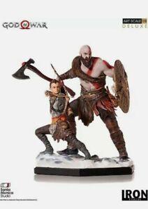 God of War Iron Studios 1/10 Figur Statue Kratos NEU OVP PlayStation PS4 PS5