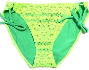 NEW WOMEN'S VICTORIA'S SECRET LARGE SWIM BOTTOMS Flower Lace Swimsuit Bikini