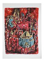 """""""City of King David"""" by Yossi Stern Lithograph on Paper Limited Ed of 150 w/ CoA"""