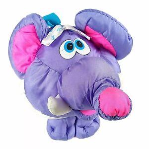 Fisher Price Big Things Purple Elephant Nylon Parachute Puffalump Stuffed Animal
