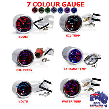 3X 52mm Type R 7 COLOUR Gauge Universal Fit ( 6 Gauges to choose from )
