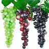 HB- 1 Bunch Fake Grape Artificial Plastic Lifelike Faux Fruit Home Wall Decor My