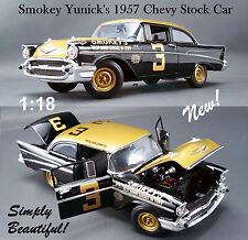 1:18 GMP / ACME 1957 CHEVY BEL AIR SMOKEY YUNICK'S DIECAST STOCK CAR #3