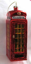 NWT Living Quarters BLOWN GLASS Christmas Ornament ENGLISH Phone BOOTH