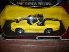 Road Signature 1999 Shelby Series 1 Yellow Diecast Car 1-18 Scale