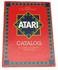 Atari Catalog (45 Game Program Cartridges) CO16725-Rev. E