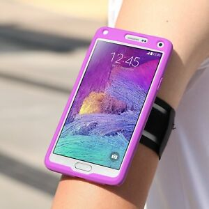 Galaxy Note 4 Armband, MoKo Silicone Armband for Samsung Galaxy Note 4(2014) 5.7